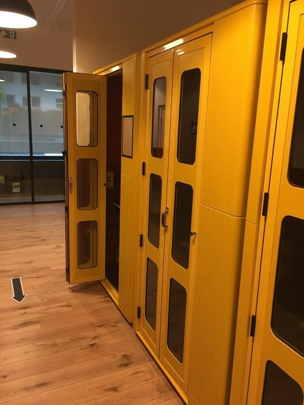 Yellow StudioBrick Office Sound Proof Silent Space Isolation Recording Pod Booth