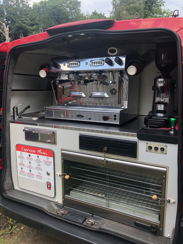 Coffee van espresso machine