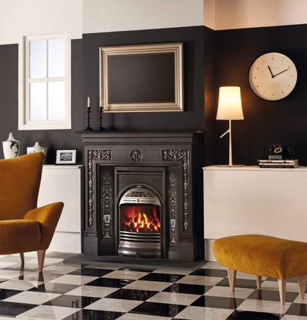 Combination fireplace