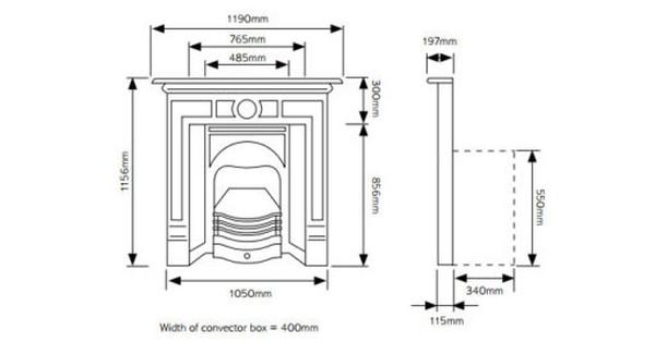 Highlight polished fireplace