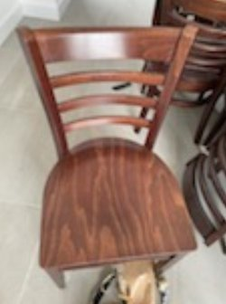 Wooden cafe chairs for sale