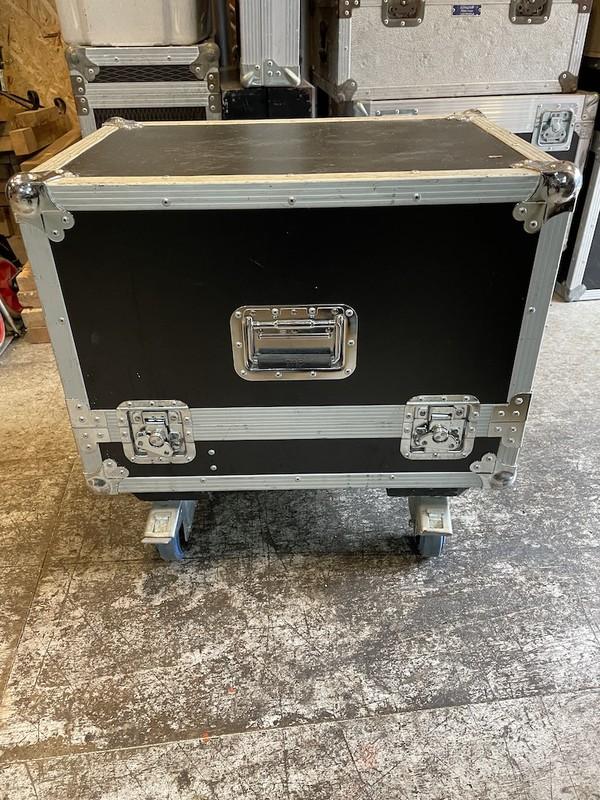 Flightcased Bi-Amp M-series Wedge Speakers