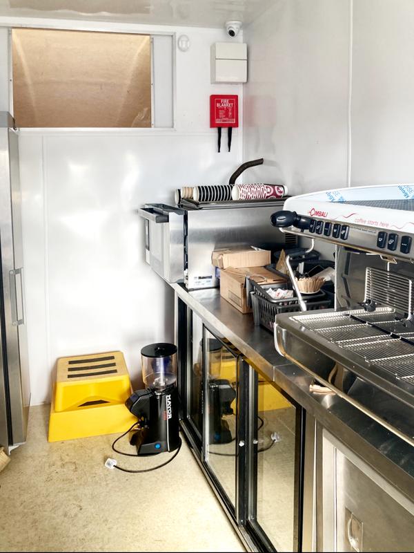 Catering van with espresso machine
