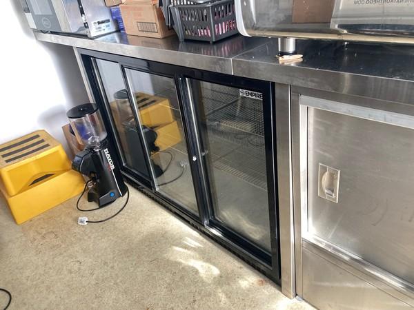 Triple glass door fridge