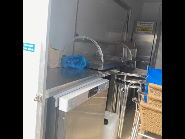 Under counter fridge and ambient display case