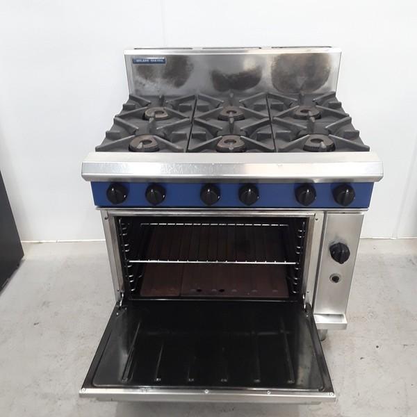 Used Blue Seal G506DF 6 Burner Range Cooker for sale