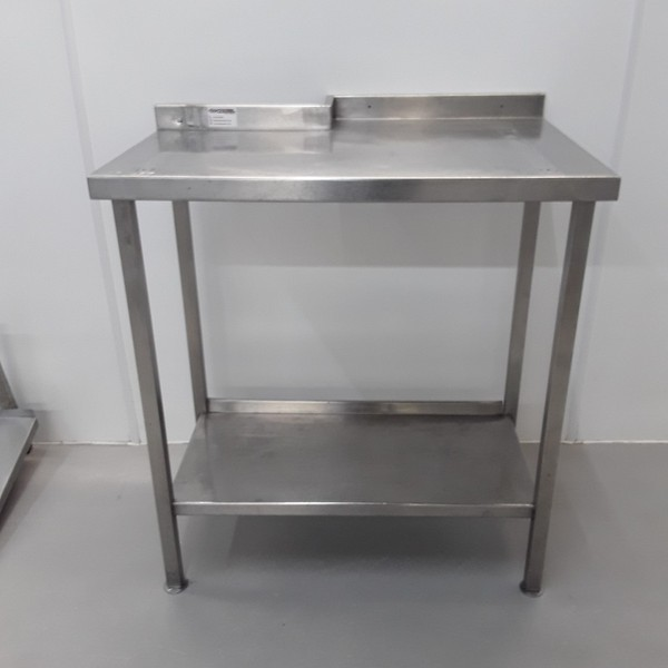 Stainless steel table 84cmW x 59cmD
