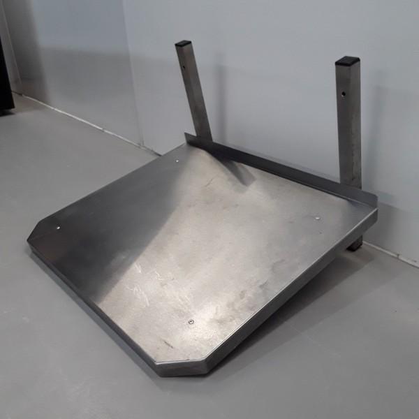 Stainless steel microwave shelf