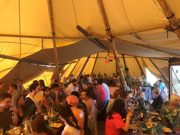 Giant Tipi wedding