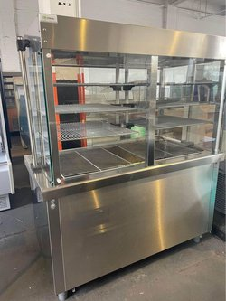 1.5M Full Glass Display Chiller With Under Storage
