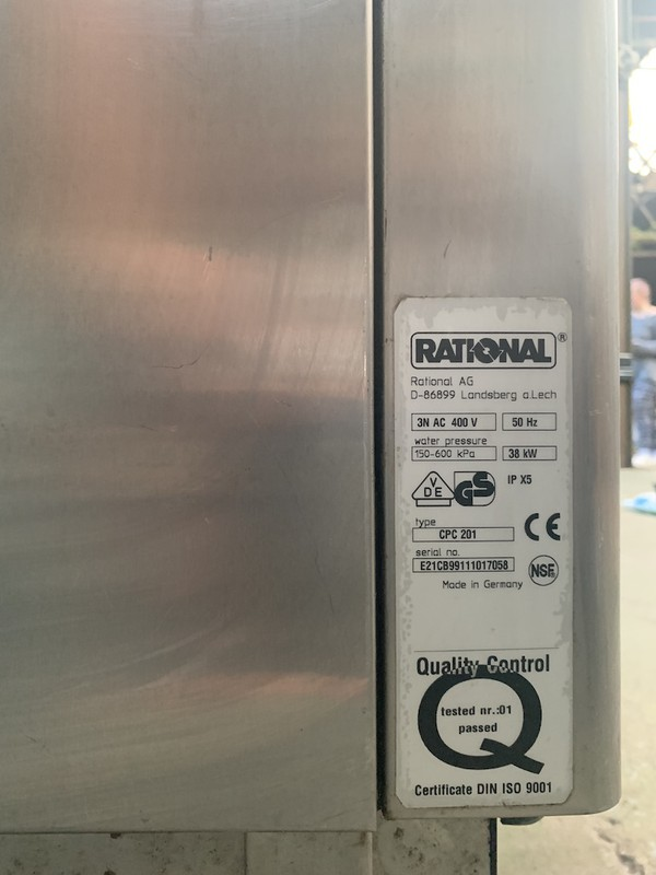 3 phase Rational CPC 20 Grid Electric Combi Oven