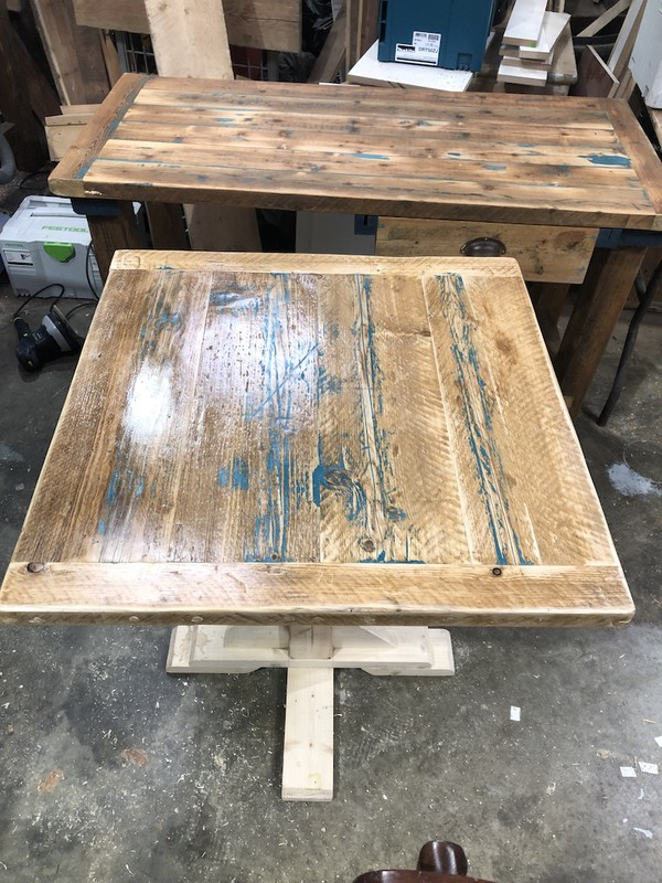 Reclaimed Wooden Table Tops for sale