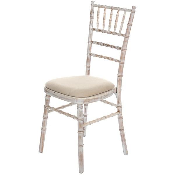 Lime wash Chivari Banqueting Chair