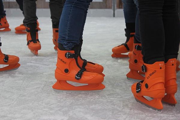 Ice World orange Hocky Skates for sale