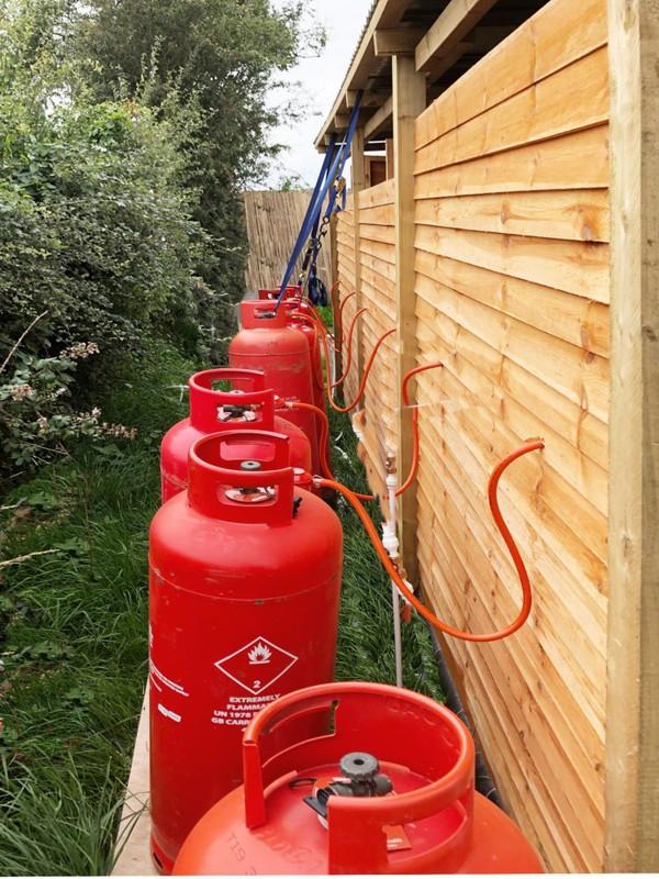 47kg Gas Bottle for glamping showers