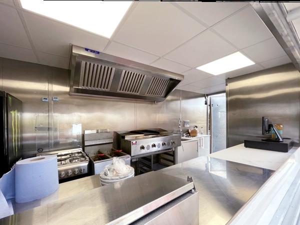 Secondhand catering van in stainless steel