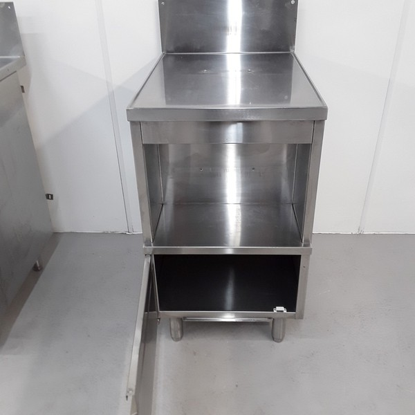 Stainless steel stand with cupboard