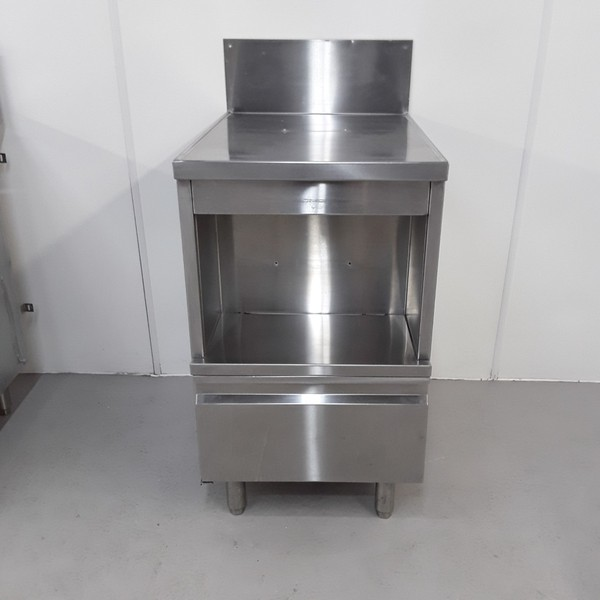 Stainless Table Stand. Single hinged door
