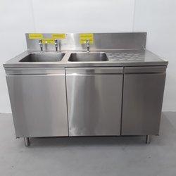 Freestanding double sink