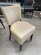 Restaurant chairs in cream faux leather
