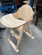 Wooden high chairs for cafe or restaurant