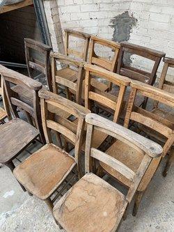 Vintage Church Chairs