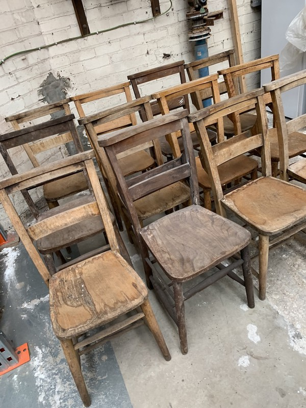 Used  Vintage Church Chairs
