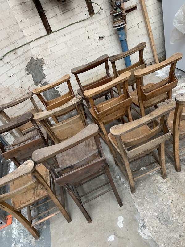 Wooden  Vintage Church Chairs