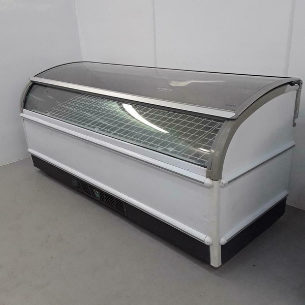 Novum Curved Lift Up Top Display Chest Freezers