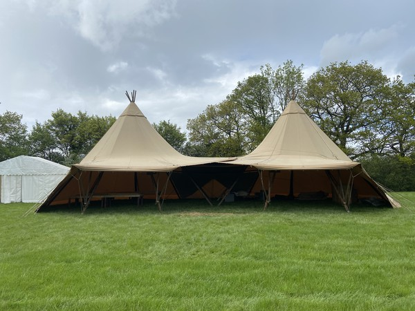 Two Giant Hat Tipi with joining kit