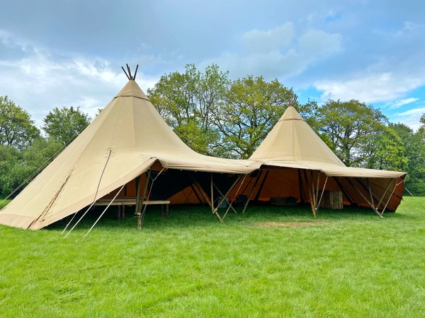 Two giant hat tipis for sale