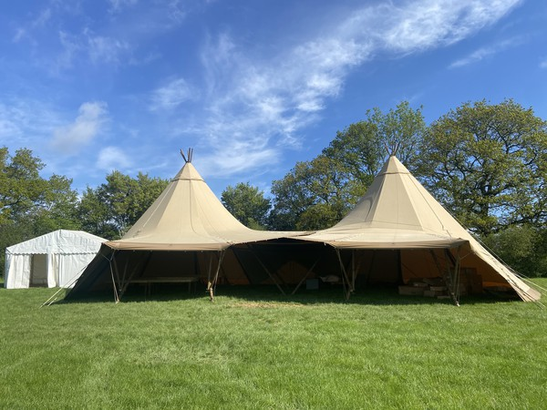 Two wedding tipis for sale with joining link