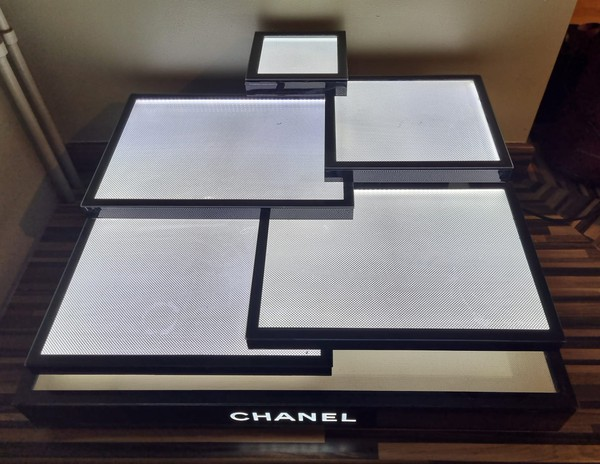 Chanel Light Up Display Stand Sales Counter