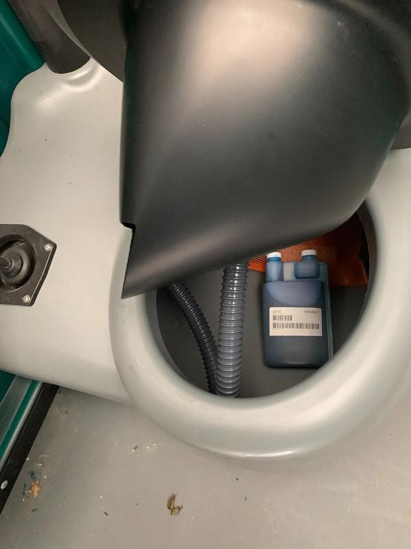 unused toilet unit - accecible toilet