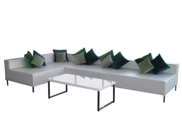 white seating unit