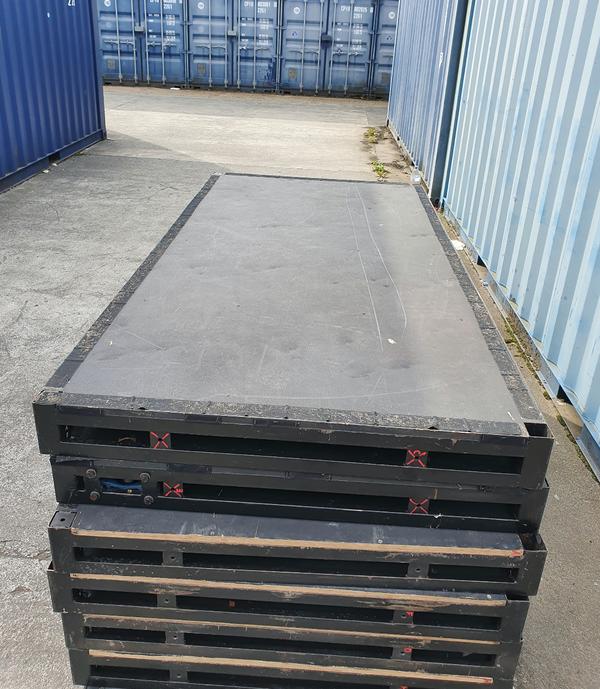 Steel stage decks
