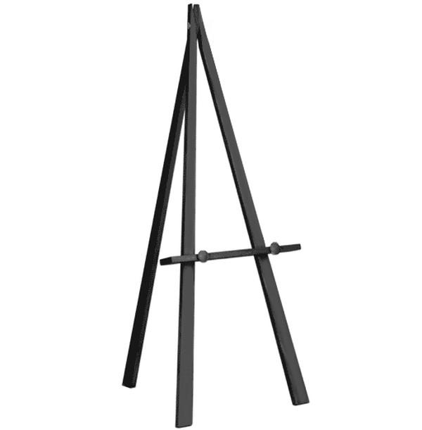 Black wooden easel