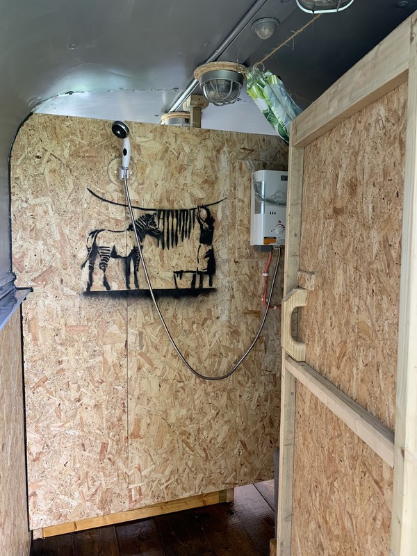 Campsite toilet trailer