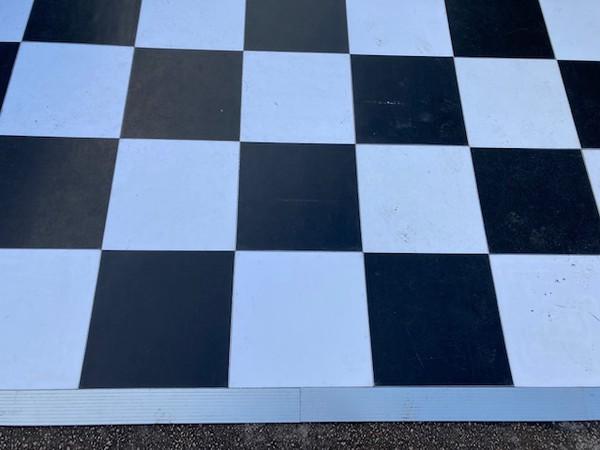 Grumpy Joe's Acrylic black and white dance floor