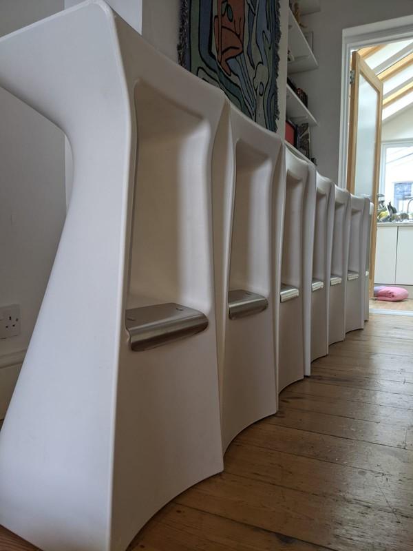 8x Italian designer bar stools