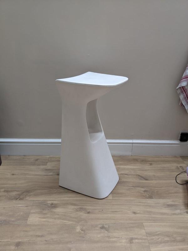 White Italian designer bar stools