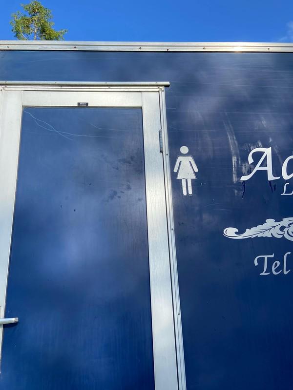 Ladies toilet door