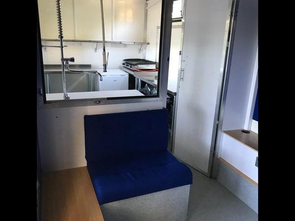 Catering truck with seating area