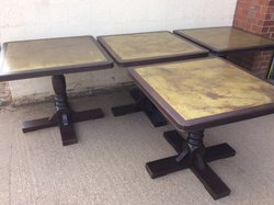 Brass Topped dining Tables - Ideal for pub or restaurant