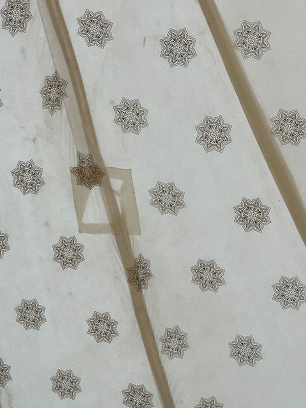 Indian block print marquee lining