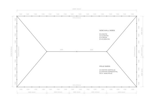 Traditional marquee plan