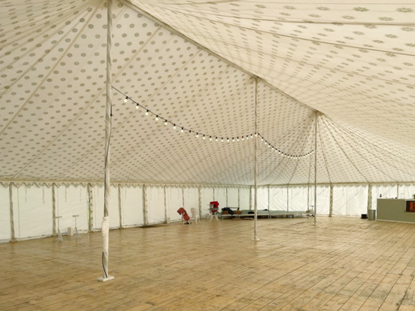 Wedding marquee traditional with lining
