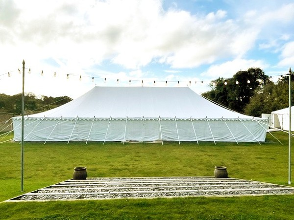 White Traditional marquee for sale