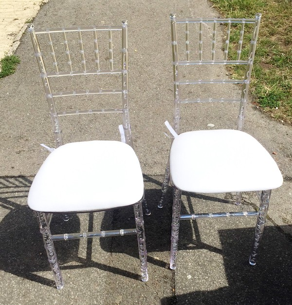 Crystal Chiavari chairs for sale