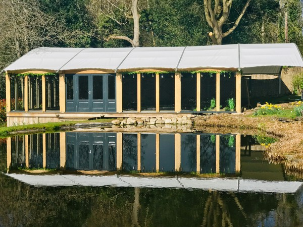 Lake side marquee wedding venue